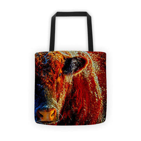 Bull on Ice Tote bag