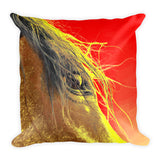Whips Eye Electrified Throw Pillow