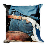 Rugged Wrangler Throw Pillow