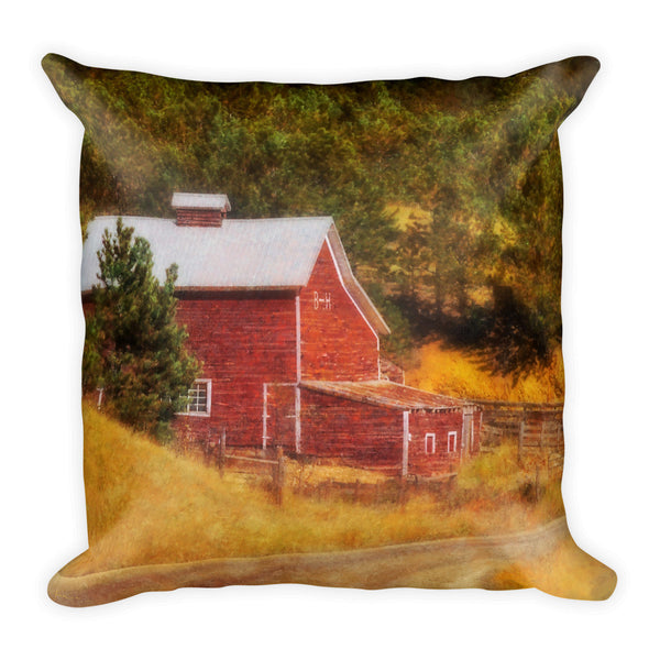 Autumn's Black Hills Barn Throw Pillow