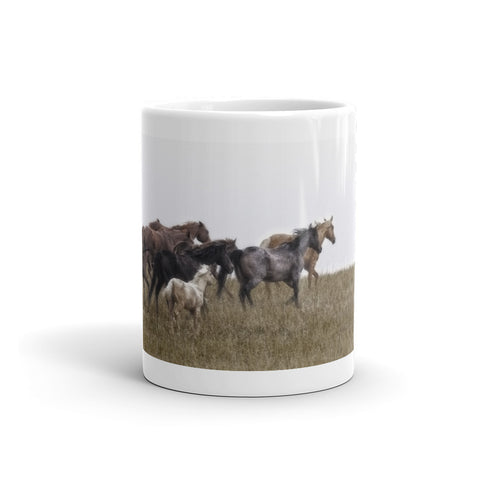 Running on November's Wind Mug