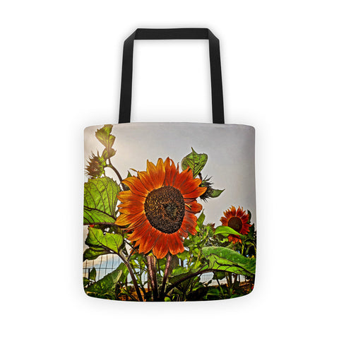 Sunflowers and Storm Tote bag