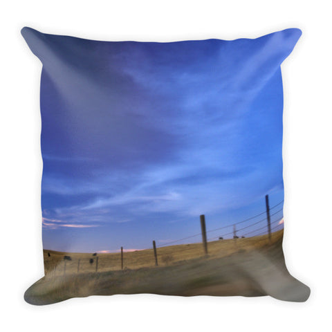 Running the Fenceline Throw Pillow