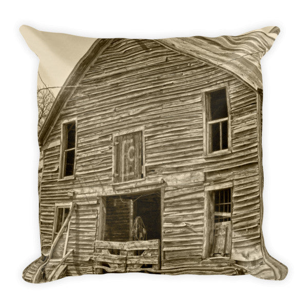 Rustic Barn of Old Throw Pillow