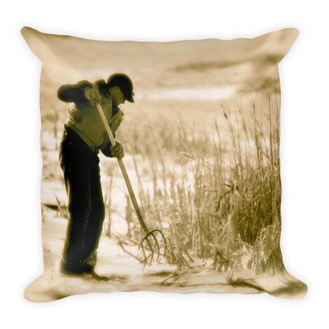 Breaking Wyoming Ice Throw Pillow