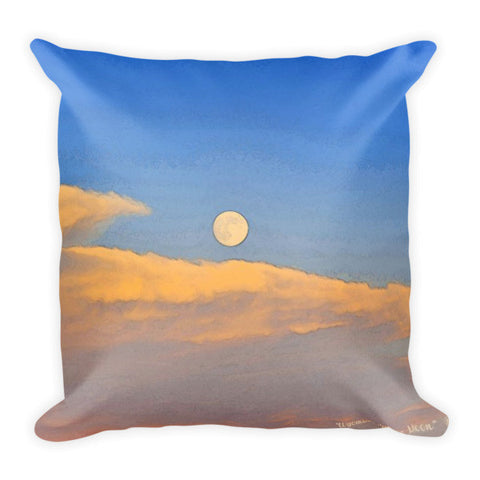 Wyoming Super Moon Throw Pillow