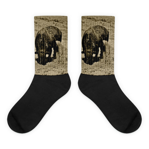Just Kickin It - Black foot socks