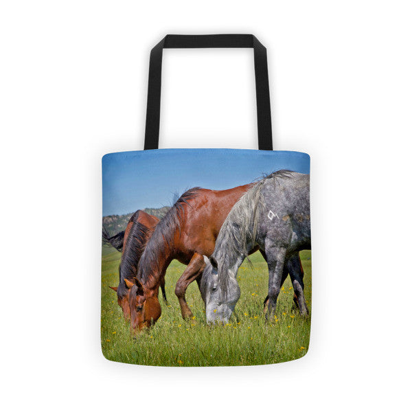 Grass Grazing Time Tote bag