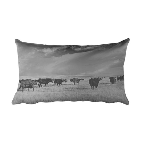 Blazing the Afternoon Trails Rectangular Pillow