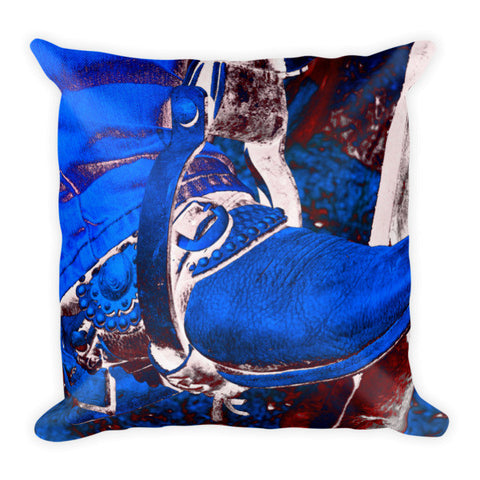 Electric Cowboy Boot Throw Pillow