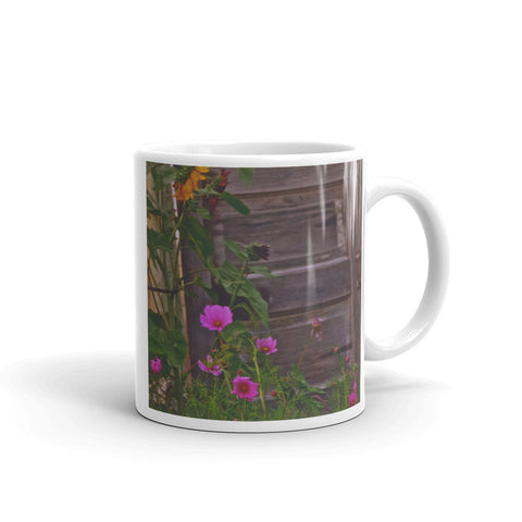 Old Kitchen Door And a Cottage Garden Mug