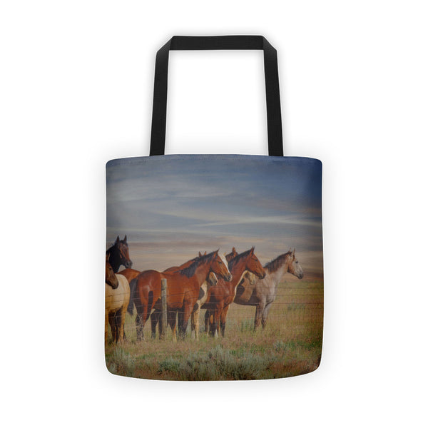 Over The Fenceline Tote bag