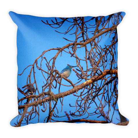 No Peeking While Bathing Throw Pillow