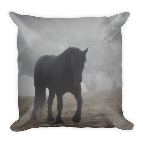Medieval in the Mist Throw Pillow