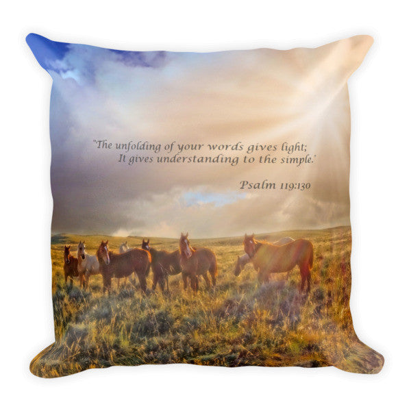 Led by the Light Inspirational Throw Pillow