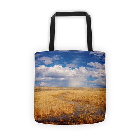 Western Landscape Tote Bags
