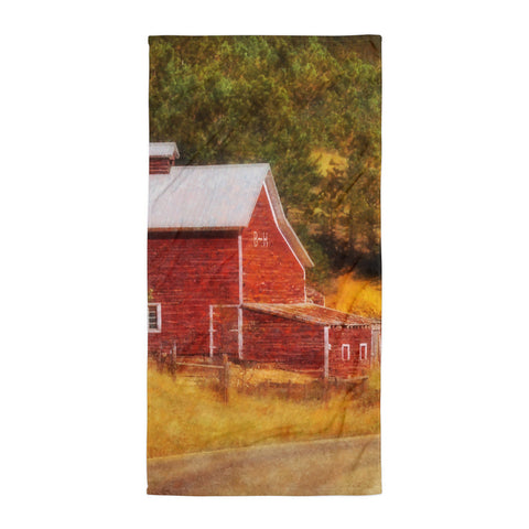 Autumn's Black Hills Barn Beach Blanket