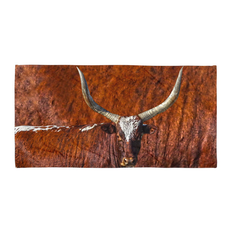 Watusi Blues in Rustic Red Beach Blanket