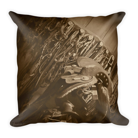 The Tack Room Throw Pillow