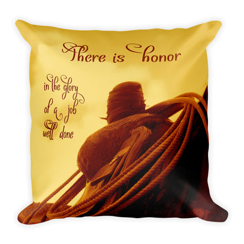 Rested Western Saddle Throw Pillow