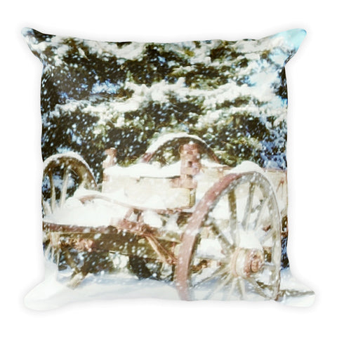 Vintage Winter Throw Pillow