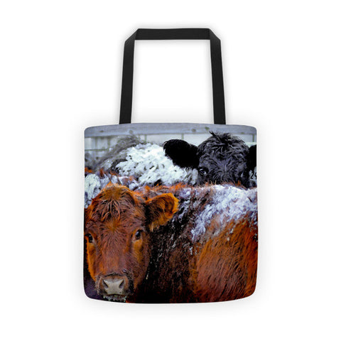 Peek a Boo Heifers Tote bag