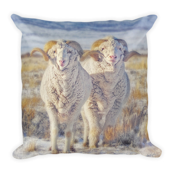 Double the Ram Power Throw Pillow