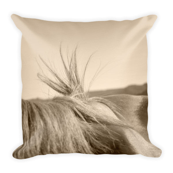 Bareback Hold Throw Pillow