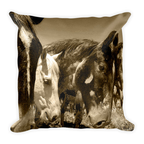 Whimsical Stallions Throw Pillow