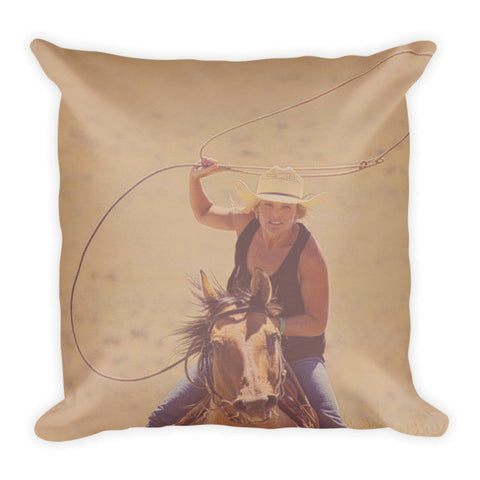 Rope 'em While They're Hot Throw Pillow