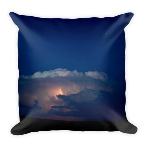 Thunder Boomer Over Wyoming Skies Throw Pillow