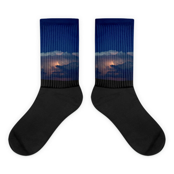 Thunder Boomer Over Wyoming Skies - Black foot socks