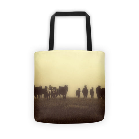 Last Run at Dusk Tote bag