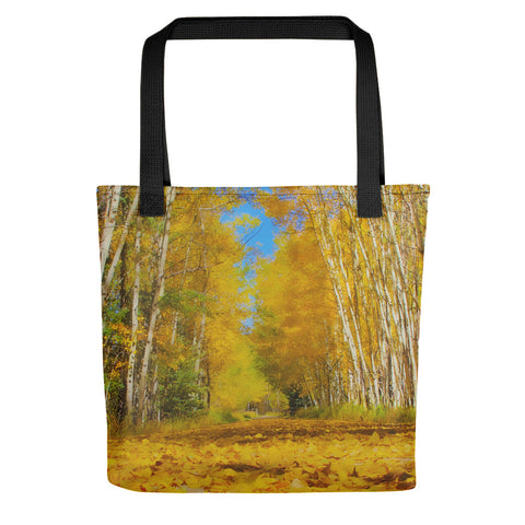 Yellow Leaf Road Tote bag