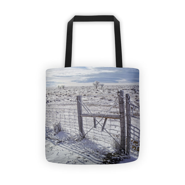 Winter Sunlight On The South Fenceline Tote bag