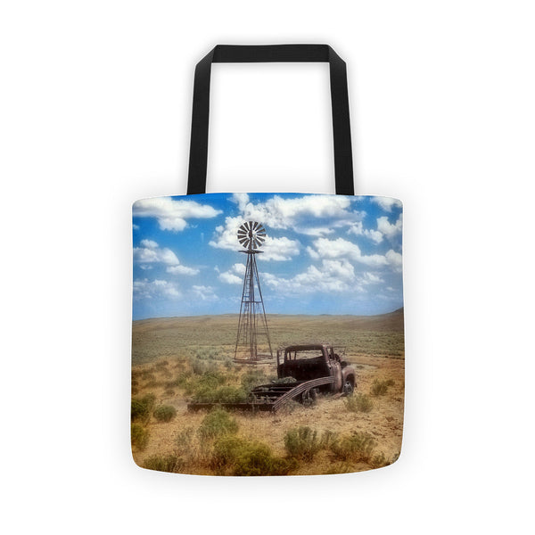 Windmill Over Lenzen Tote bag