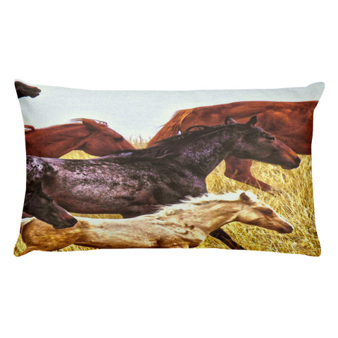 Spirit Races on the Prairie Rectangular Pillow