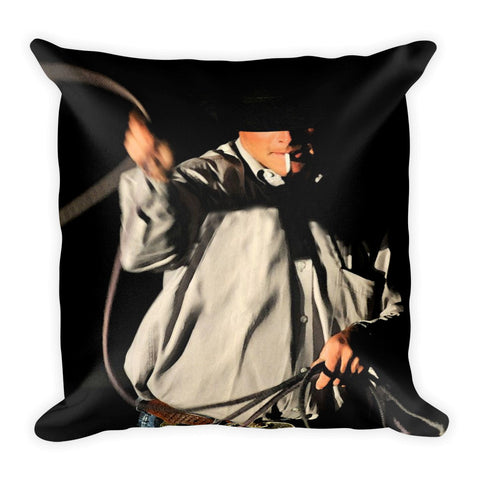 Ropin' Smoke Throw Pillow