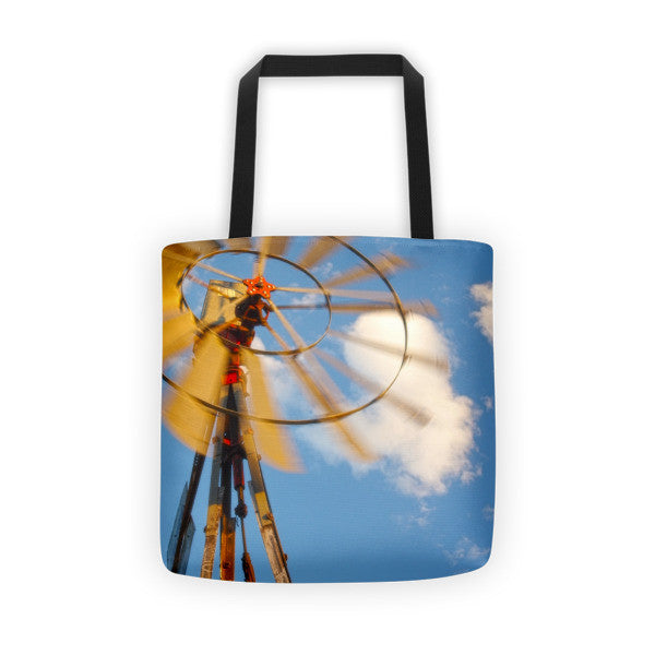 Red Wind Windmill Tote bag