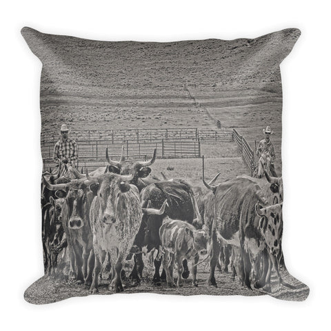 Heading Back to Open Range Throw Pillow