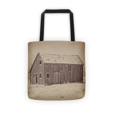 Old Wood Reed's Place Tote bag