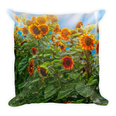 Sunflower Pack Throw Pillow