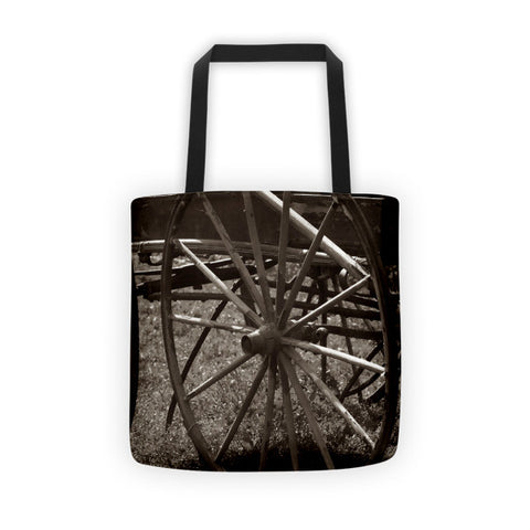 Wagon and Wheel Tote bag