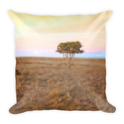 Cedar Tree at Sunset Throw Pillow