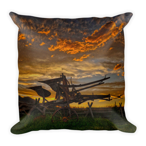 Beartooth Plow Throw Pillow