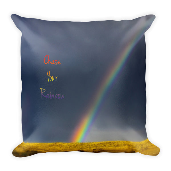 Chase Your Rainbow Throw Pillow