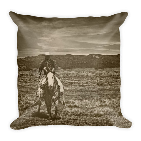 Cowboy Ride Throw Pillow