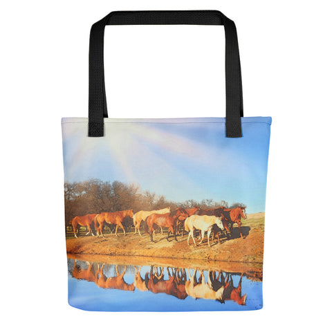 Walk Along the Pond Tote bag