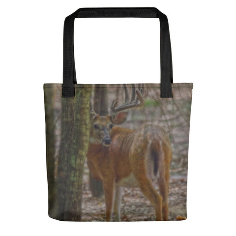 Whitetail Buck in Woods Tote bag