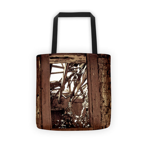 Bunk House Window Tote bag